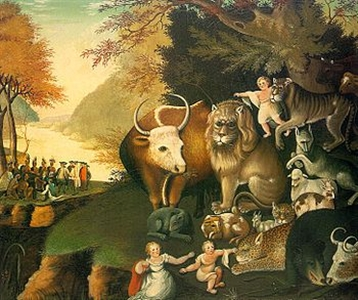 The Peaceable Kingdom art by Edward Hicks